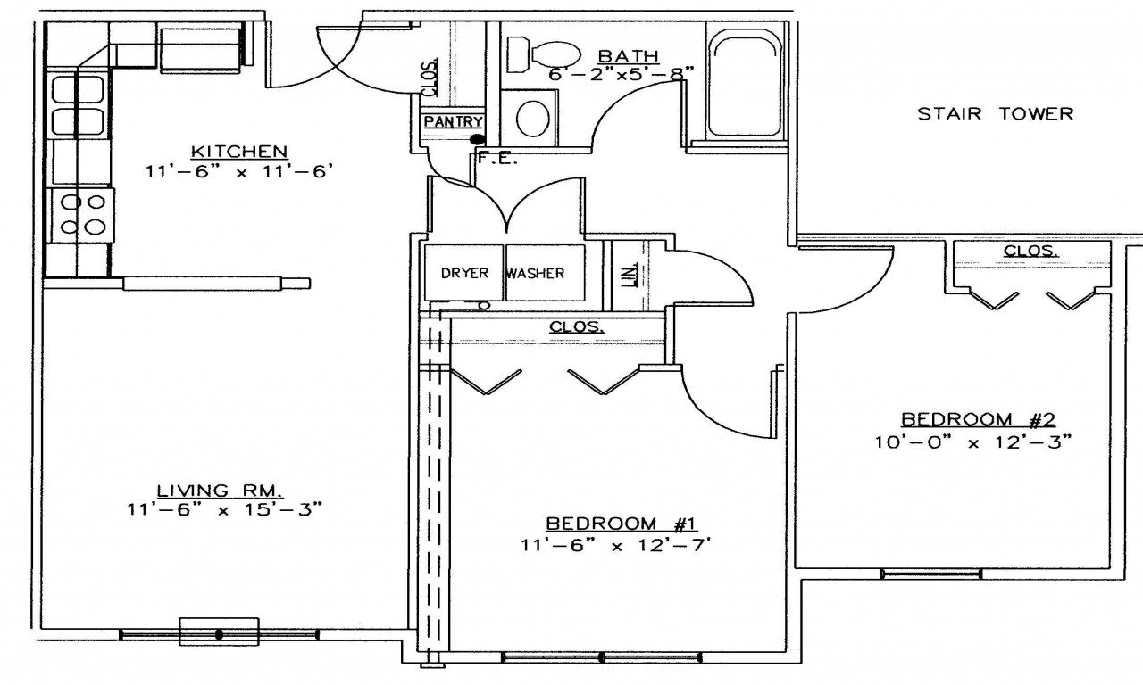 Best 2 Bedroom House Simple Plan 2 Bedroom House Floor Plans With Pictures