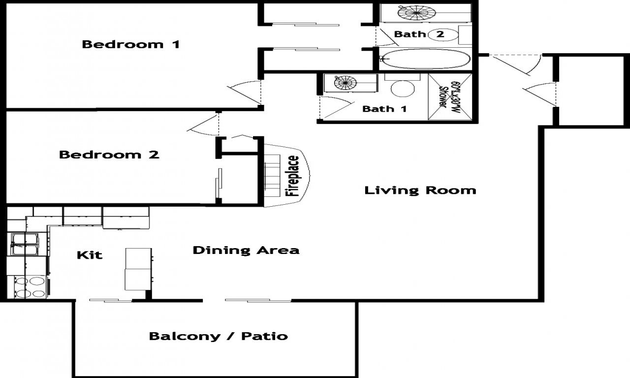 Best 2 Bedroom 2 Bath Apartment Floor Plans 2 Bed 2 Bath House With Pictures