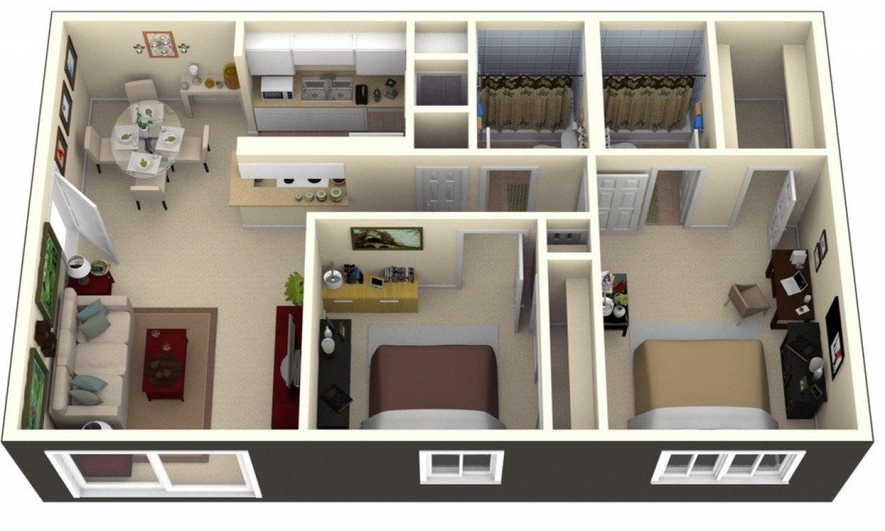 Best Small 2 Bedroom Apartment Layout 2 Bedroom Apartment With Pictures