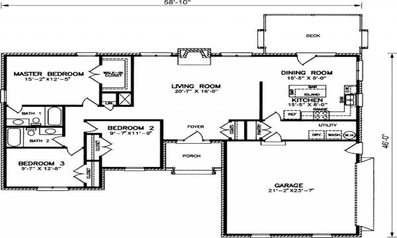 Best 2 Bedroom Ranch Style House Plans Tuscan Bedroom Colors Small House Layouts Mexzhouse Com With Pictures