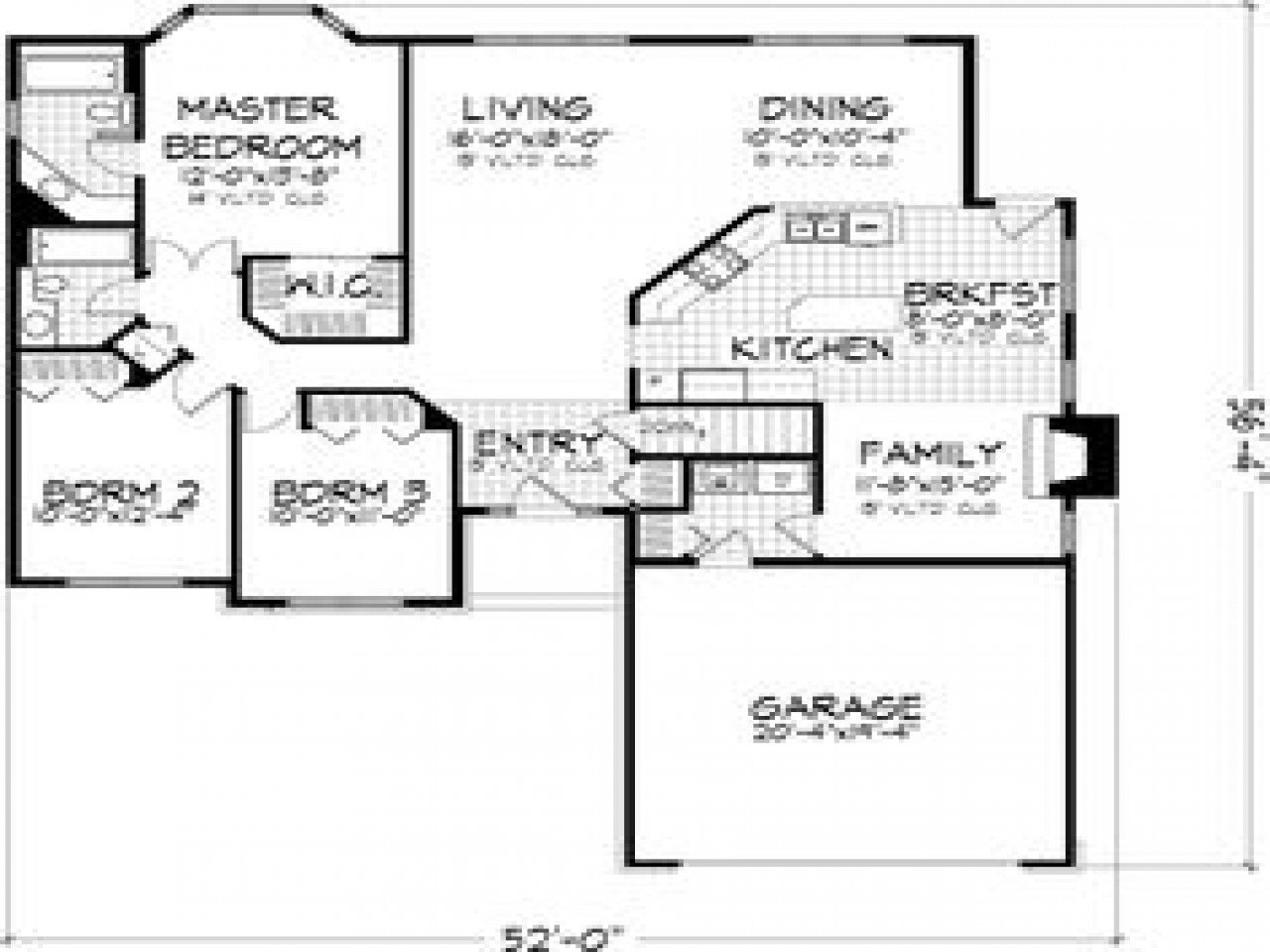 Best 3 Small House Bedroom 3 Bedroom House Floor Plans With With Pictures