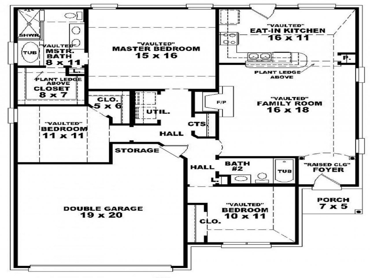 Best 3 Bedroom 2 Bath 1 Story House Plans 3 Bedroom 2 Bath With Pictures
