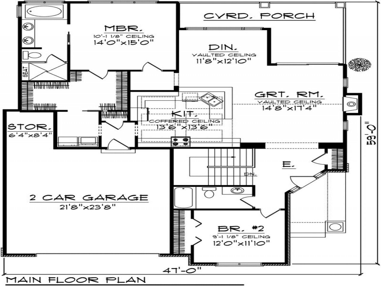 Best 2 Bedroom Cottage House Plans 2 Bedroom House Plans With With Pictures