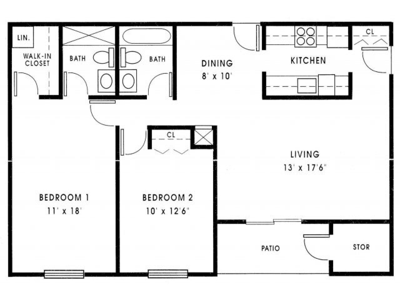 Best Small 2 Bedroom House Plans 1000 Sq Ft Small 2 Bedroom With Pictures