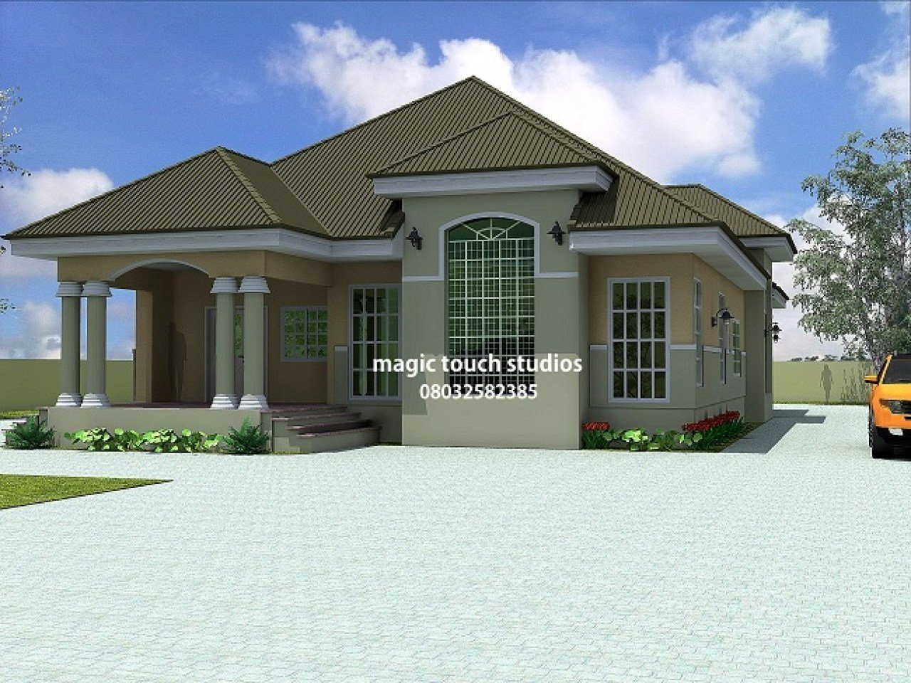 Best Bungalow Bedroom Ideas 5 Bedroom Bungalow House Plan In With Pictures
