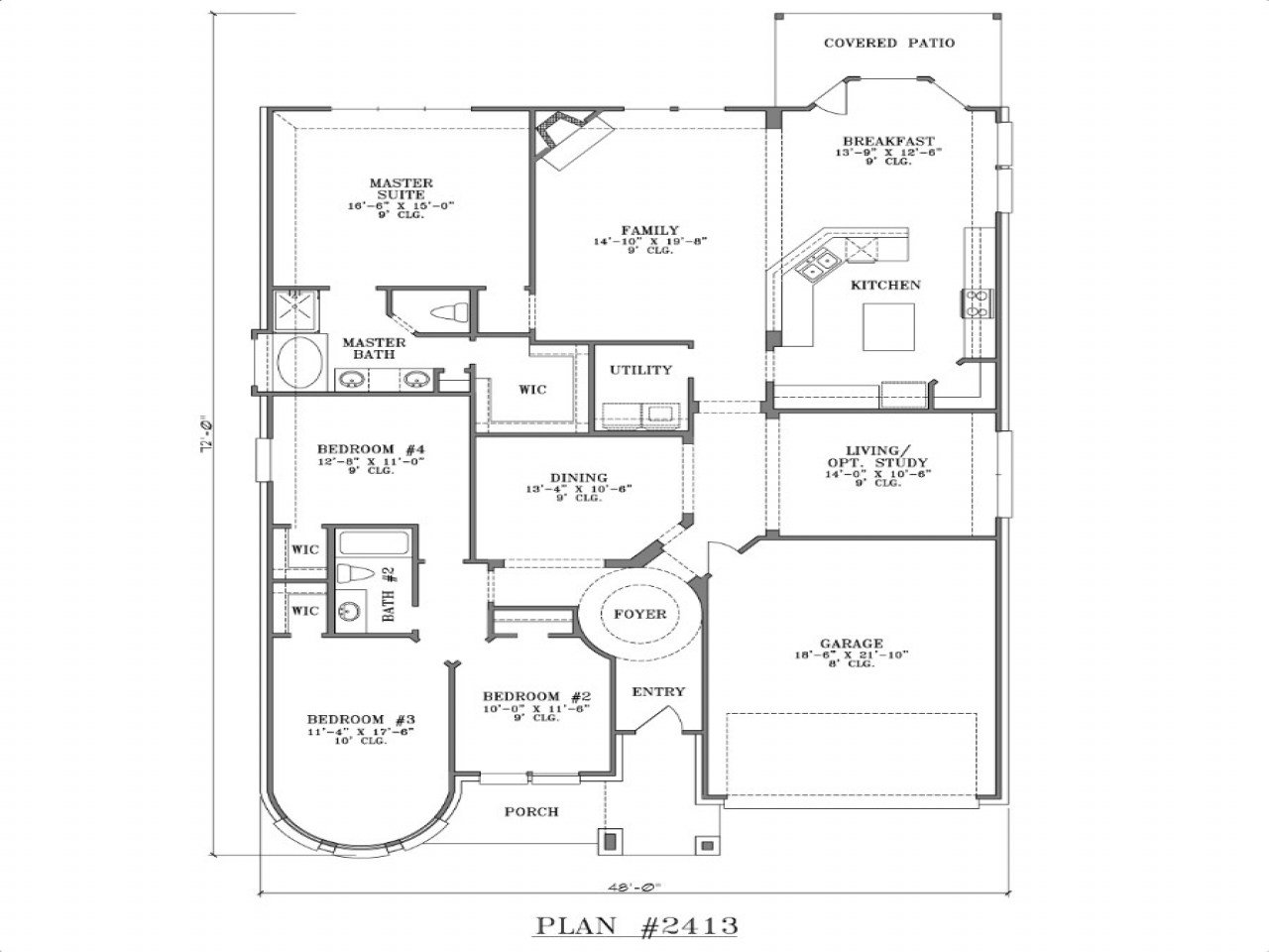 Best 4 Bedroom One Story House Plans 5 Bedroom One Story With Pictures