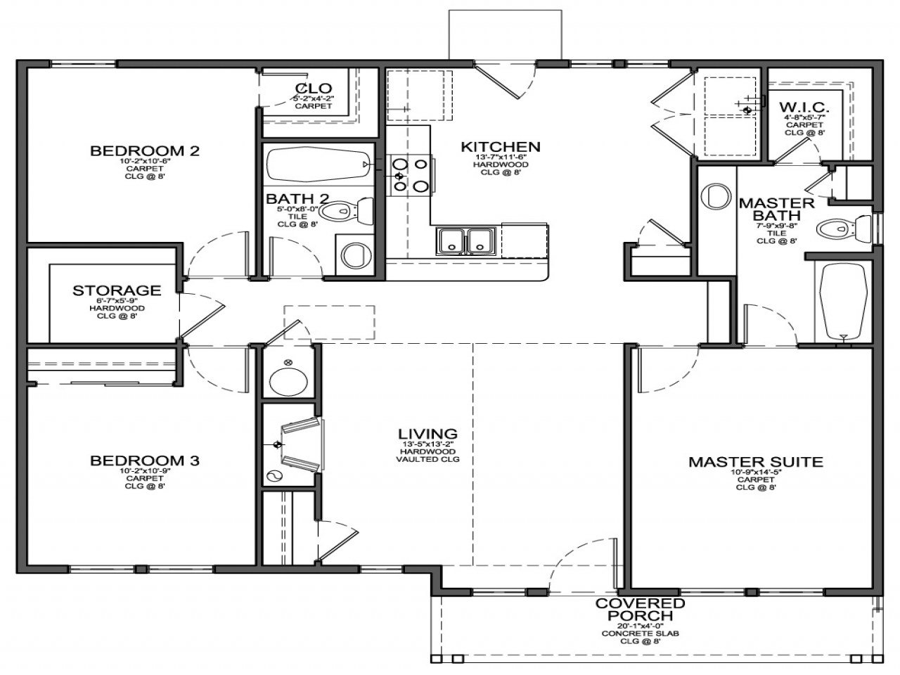Best Simple 4 Bedroom House Plans Small 3 Bedroom House Floor Plans Model House Floor Plan With Pictures