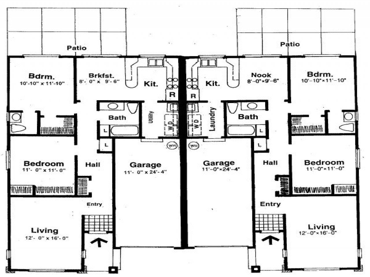 Best Small Two Bedroom House Plans House Plans With Two Master With Pictures