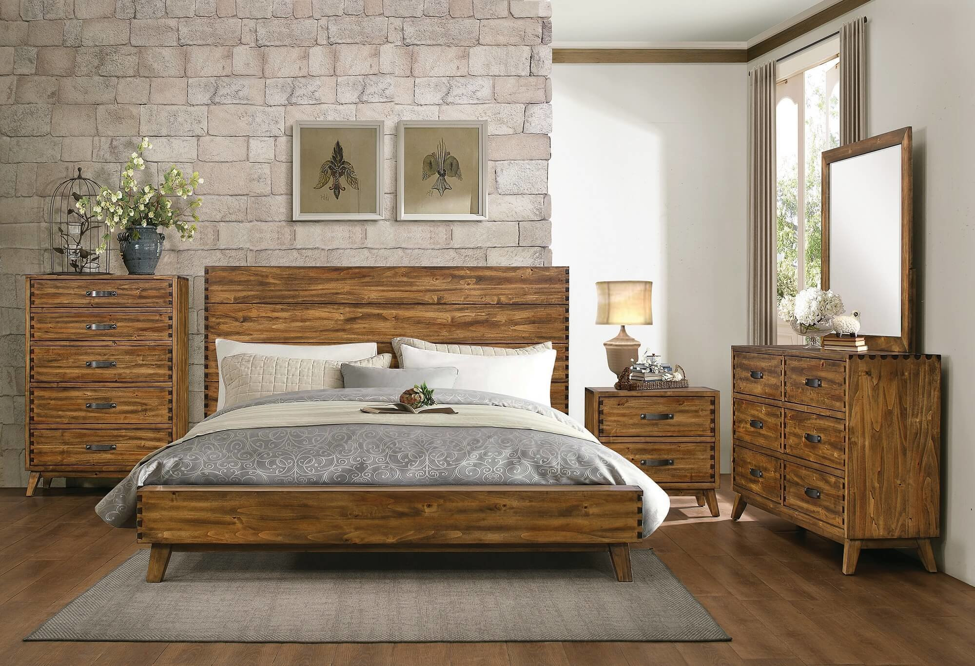 Best Sorrel Rustic Solid Wood 5 Drawer Chest By Homelegance With Pictures
