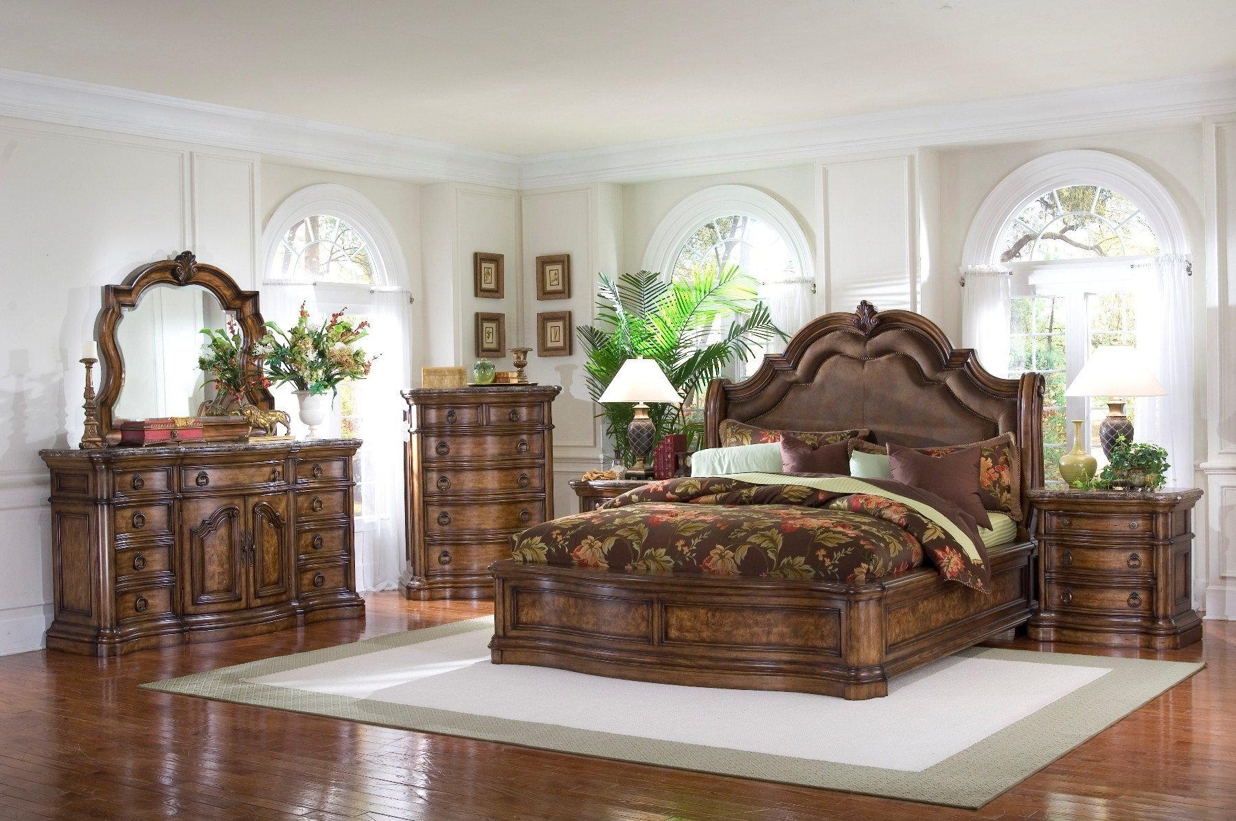 Best Pulaski Furniture San Mateo 4 Pc Sleigh Bedroom Set Usa Furniture Warehouse With Pictures