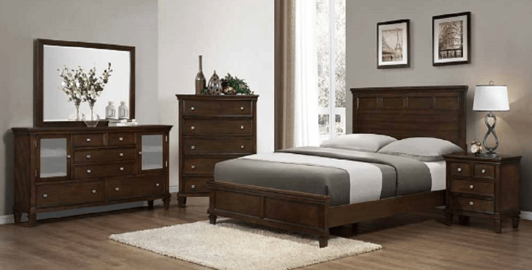 Best 4Pc Coaster Cherry Sandy Beach Bedroom Set With Pictures