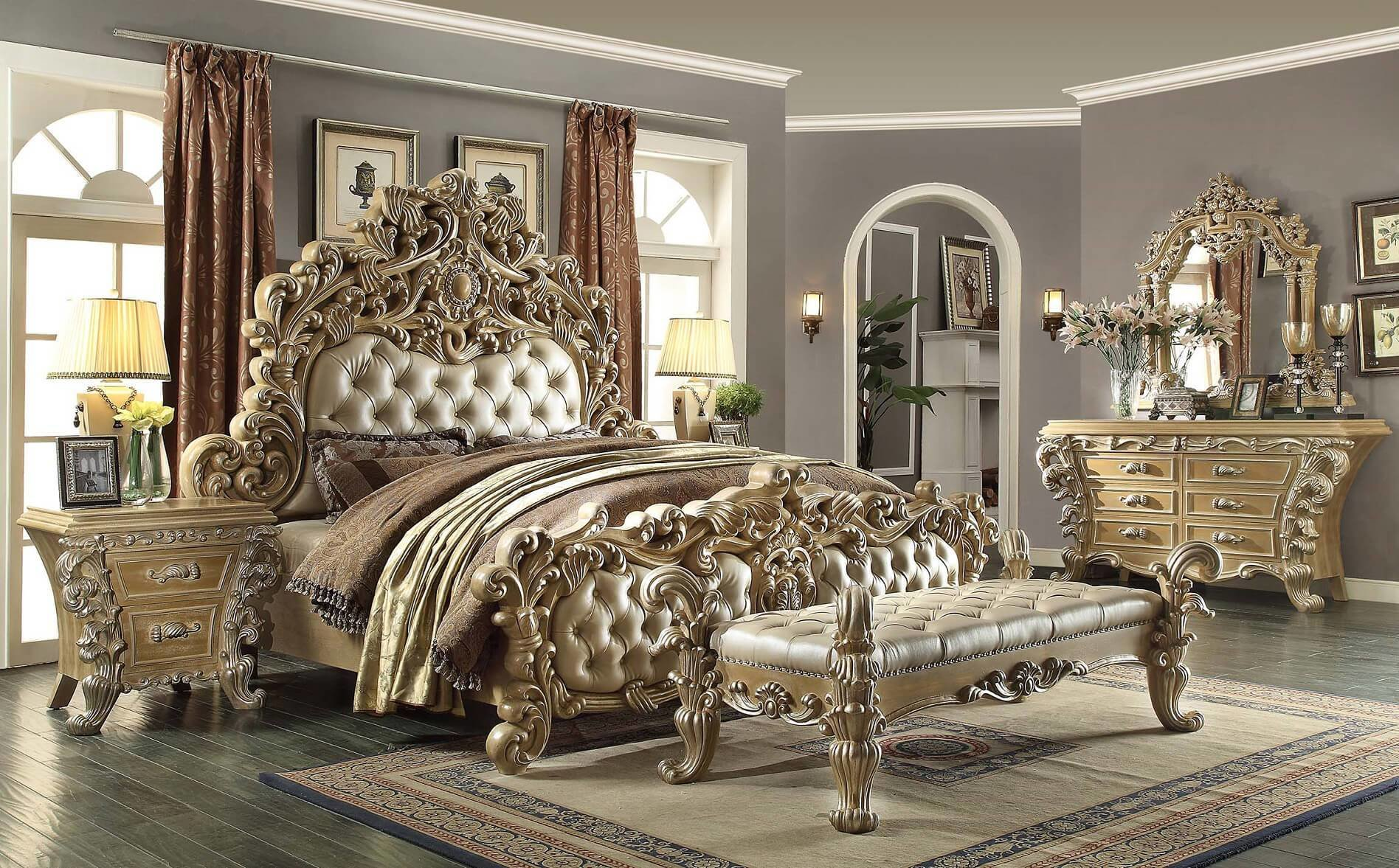 Best 5 Piece H*M*Y Design Royal Kingdom Hd 7012 Bedroom Set With Pictures