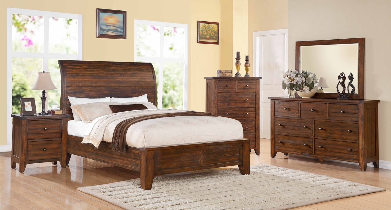 Best 4 Piece Modus Cally Solid Wood Bedroom Set With Pictures