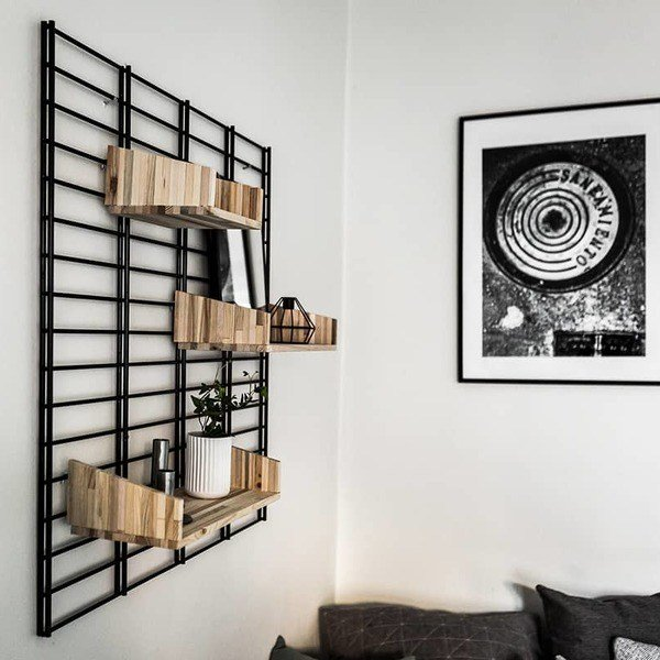 Best Metal Wall Shelf Shelving Bookshelves Black Decorative With Pictures