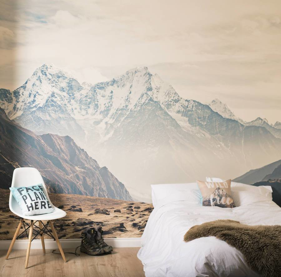 Best Mountain Vista Self Adhesive Wallpaper Mural By Oakdene With Pictures