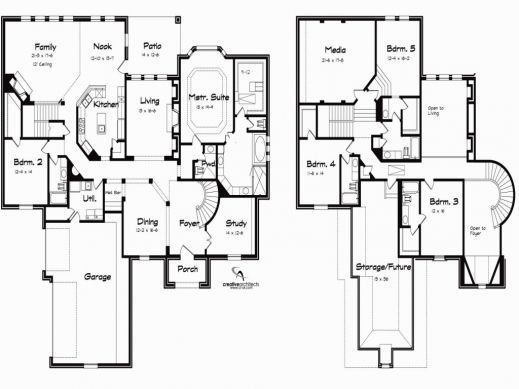 Best 5 Bedroom House Plans With Basement Krissshellmancom 5 With Pictures