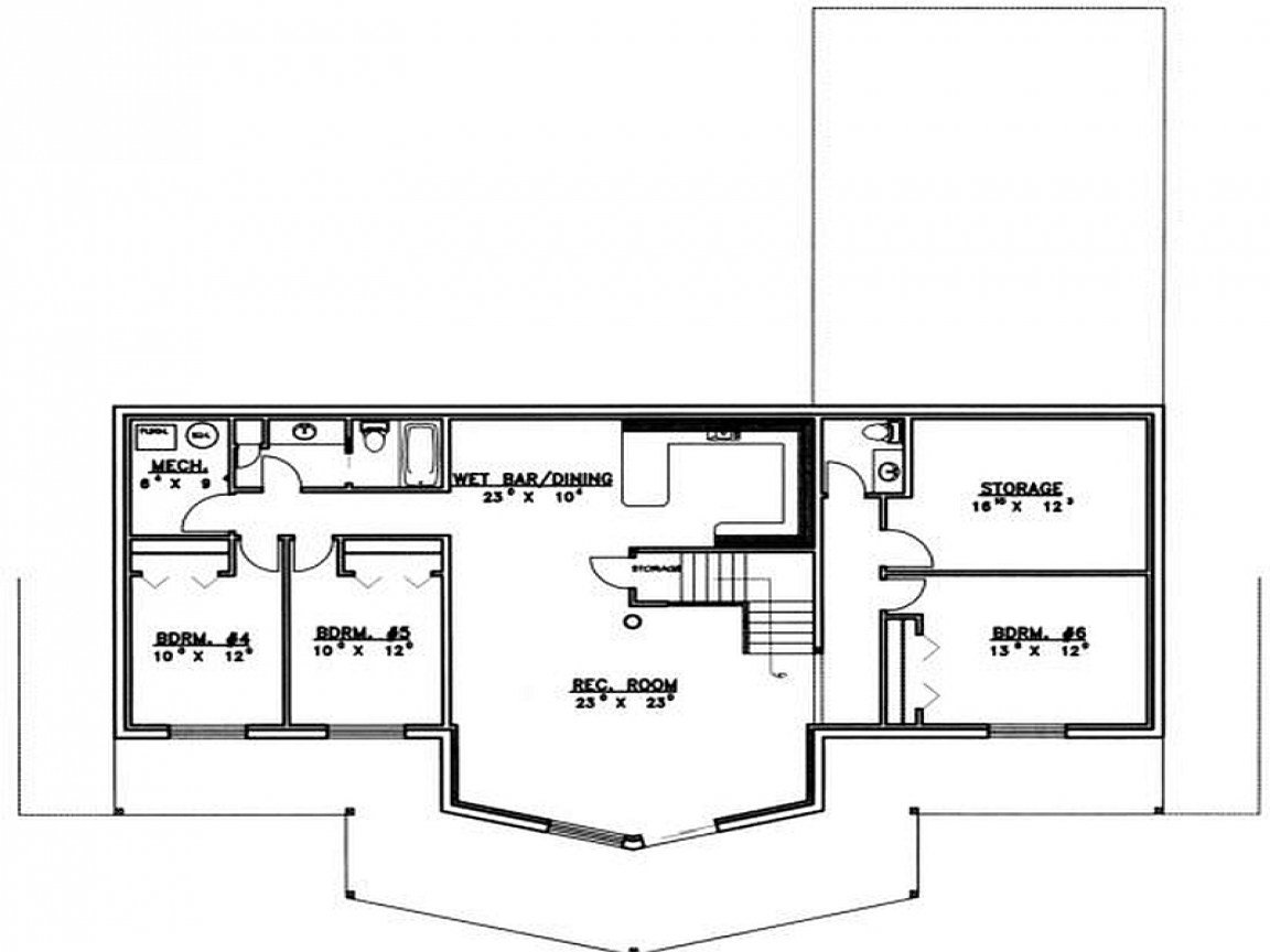 Best 5 Bedroom House Plans With Basement Modern 5 Bedroom House With Pictures