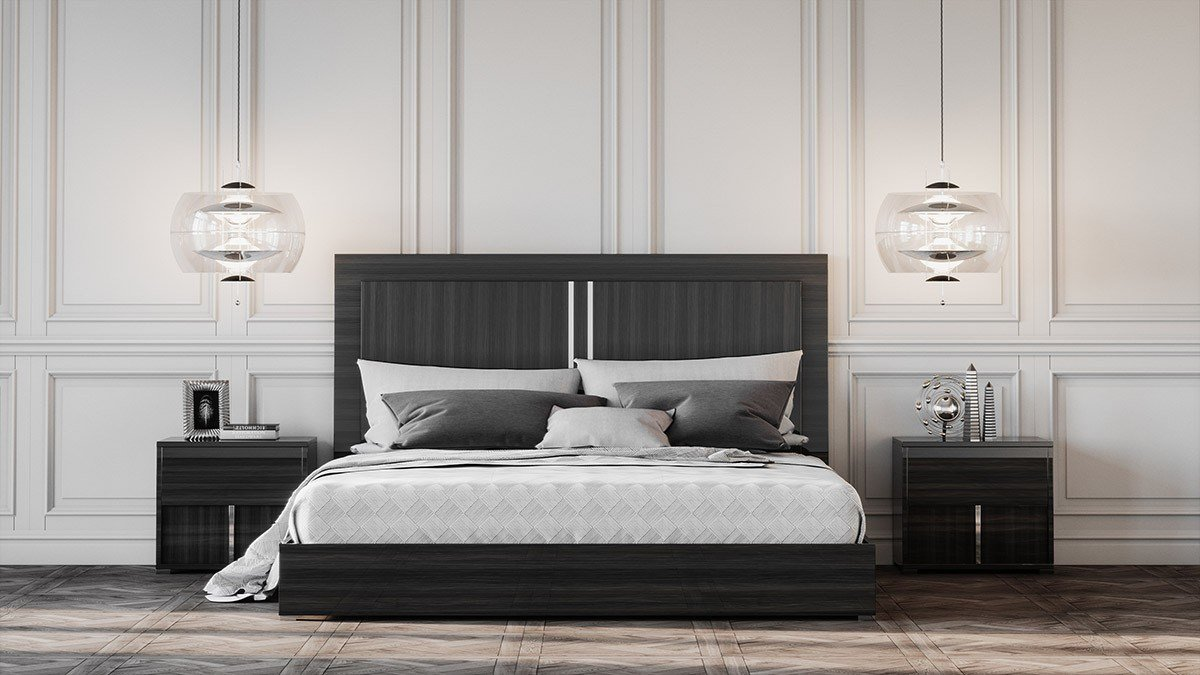 Best Modrest Ari Italian Modern Grey Bed With Pictures