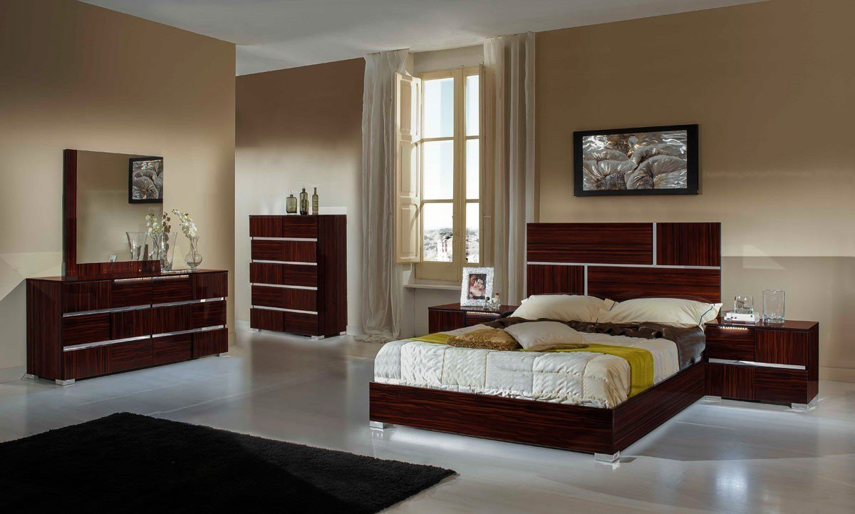 Best Modrest Picasso Italian Modern Ebony Lacquer Bed Modern With Pictures
