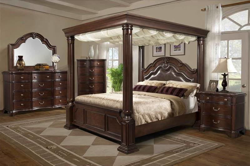 Best Von Furniture Tabasco Bedroom Set With Canopy Bed With Pictures