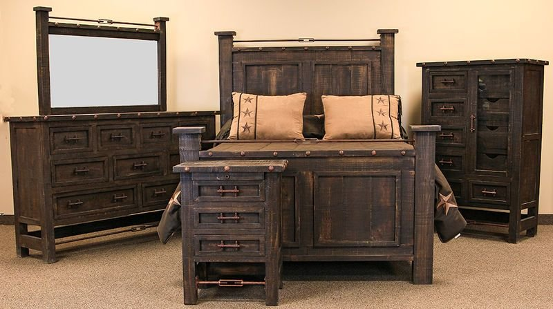 Best Von Furniture Las Piedras Rustic Bedroom Set With Pictures