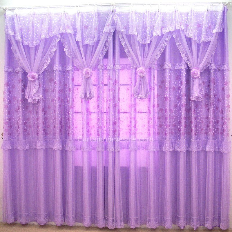 Best Romantic Purple Sheer Curtain For Girls Room Without Valance With Pictures