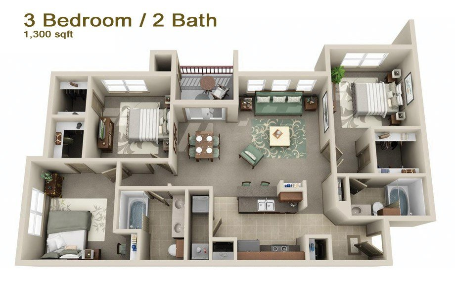 Best Apartments In Mount Pleasant Tx Cypress Creek Floorplans With Pictures