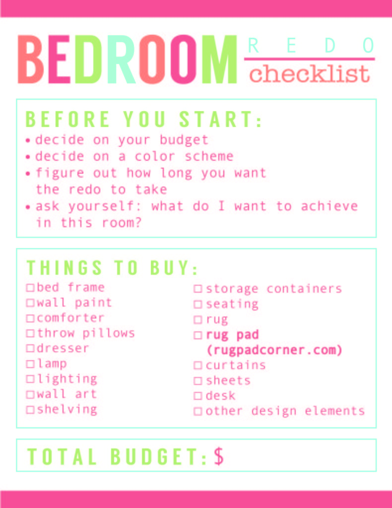 Best Room Redo Checklist Best Rug Pads Ever With Pictures