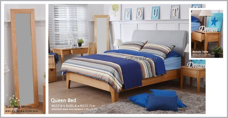 Best Stamford Youth Bedroom Set Sky Blue Coloured Headboard With Pictures