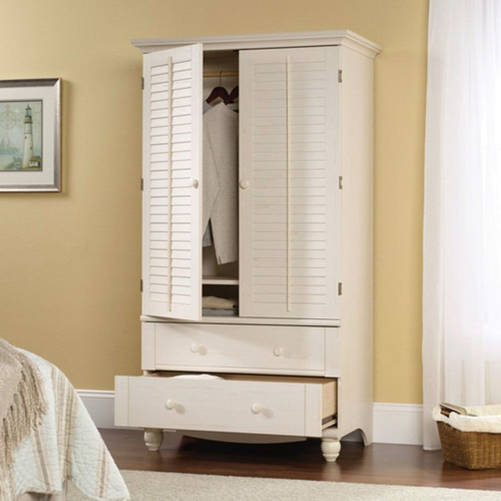 Best Bedroom Wardrobe Cabinet Storage Armoire With Louver Doors With Pictures