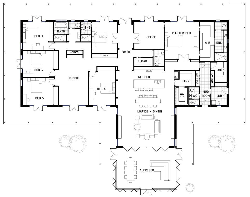 Best 17 Best 6 Bedroom House Floor Plans House Plans 43867 With Pictures