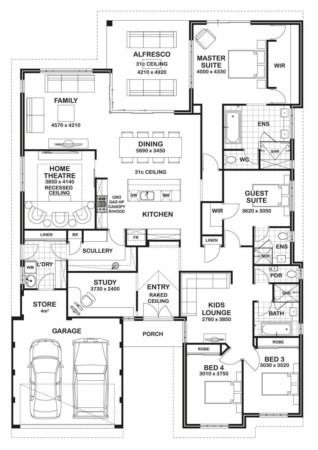 Best Floor Plan Friday 4 Bedroom 3 Bathroom Home With Pictures
