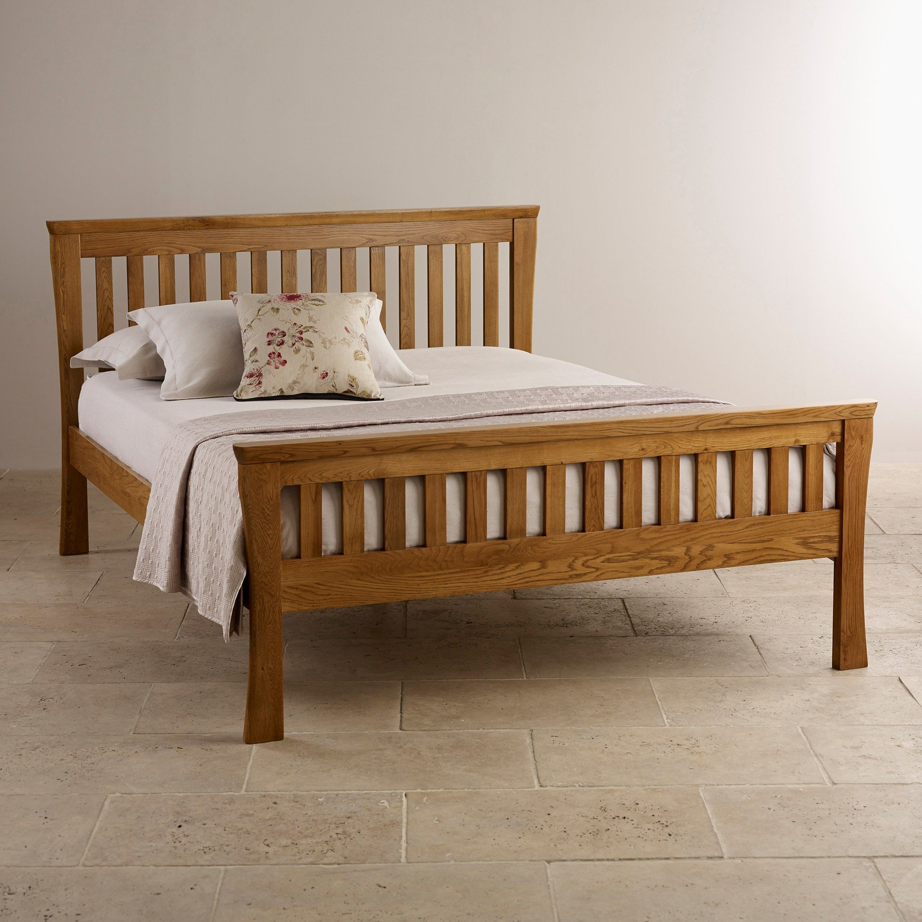 Best Orrick Rustic Solid Oak King Size Bed Bedroom Furniture With Pictures