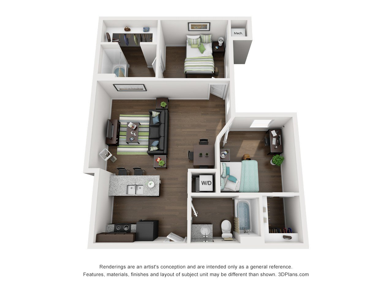 Best How To Decorate Two Room Apartment Creeks 2 Bedroom Layout With Pictures
