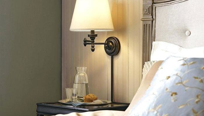 Best Bedroom White Bedside Lamps Wall Mounted Lamp With Cord With Pictures