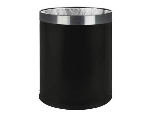 Best Hotel Bedroom Waste Bin Double Skin 7 Litre Black With Pictures
