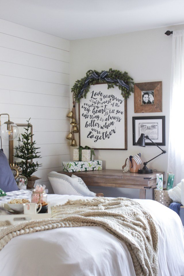 Best Rustic Christmas Master Bedroom Shades Of Blue Interiors With Pictures