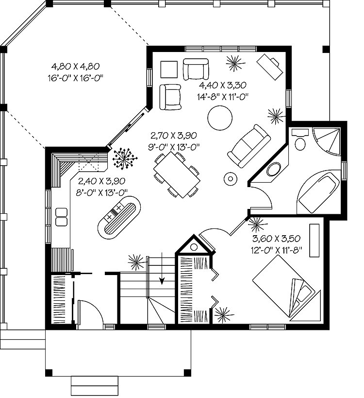 Best A Unique Look At The Large One Bedroom House Plans Design 13 Pictures Home Plans Blueprints With Pictures