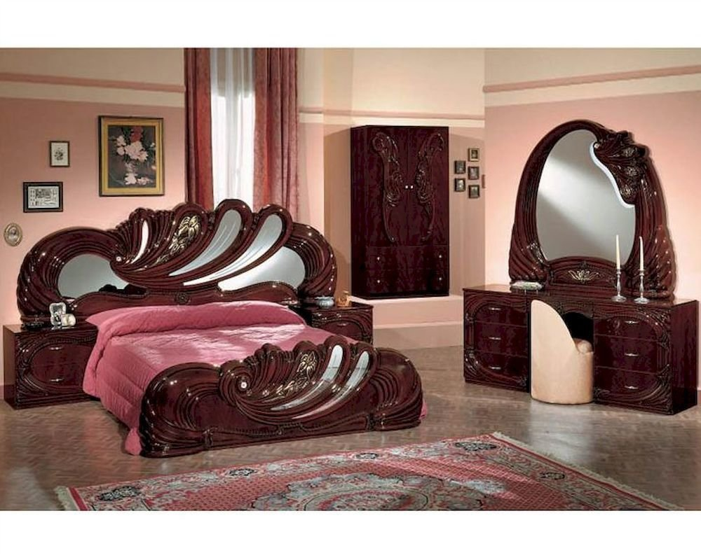 Best Contemporary Mahogany Bedroom Set Photograph Bedroom With Pictures