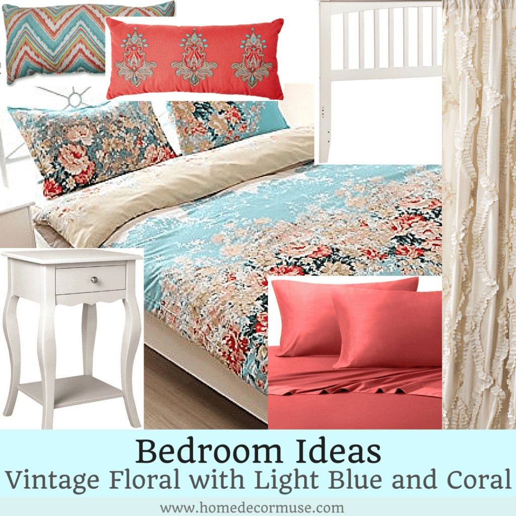 Best Vintage Floral Romantic Blue Bedroom Design Home Decor Muse With Pictures
