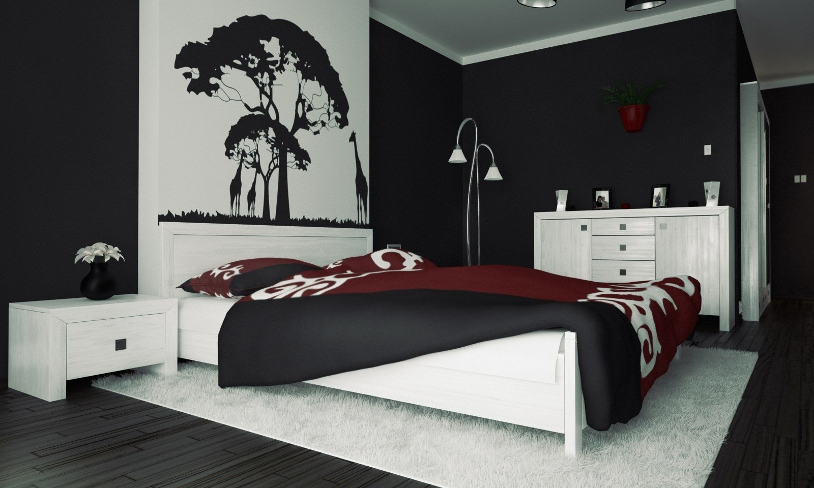 Best Download Black And White And Red Bedroom Gen4Congresscom With Pictures