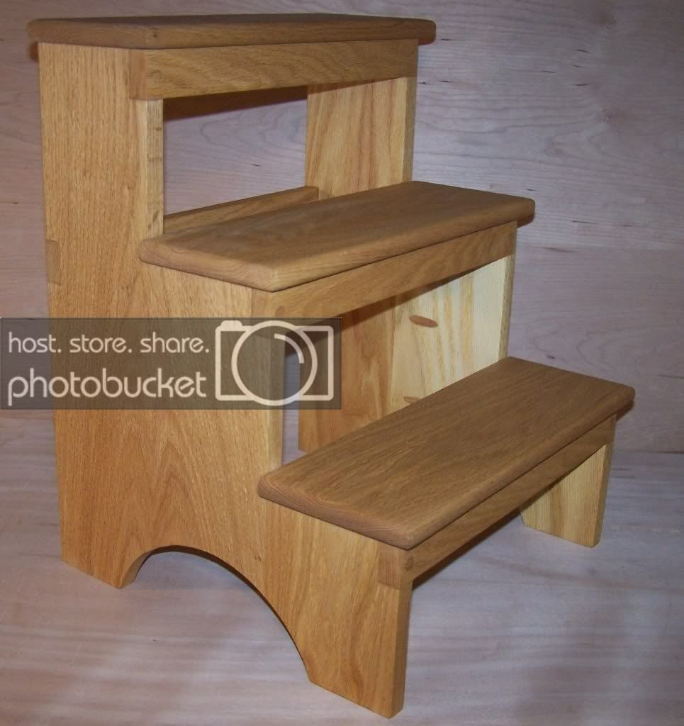 Best Oak Wood Shaker Step Stool Kitchen Living Room Bedroom Ebay With Pictures