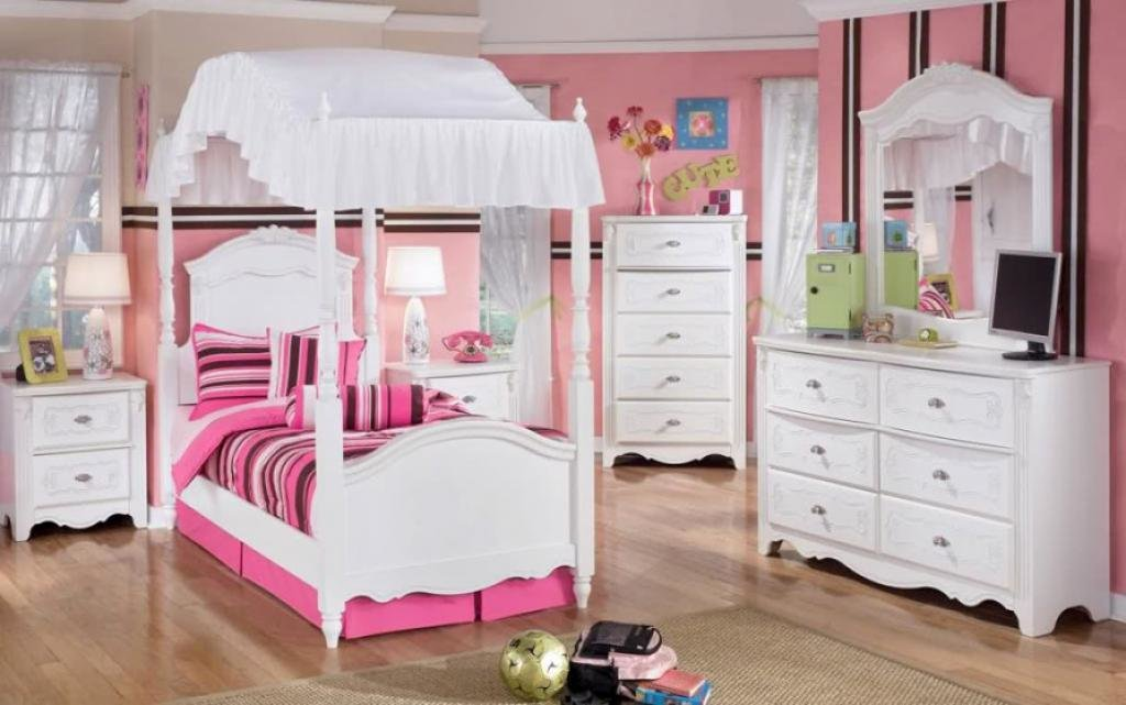 Best Cute Small Canopy Bed White Bedroom Furniture For Girls With Pictures