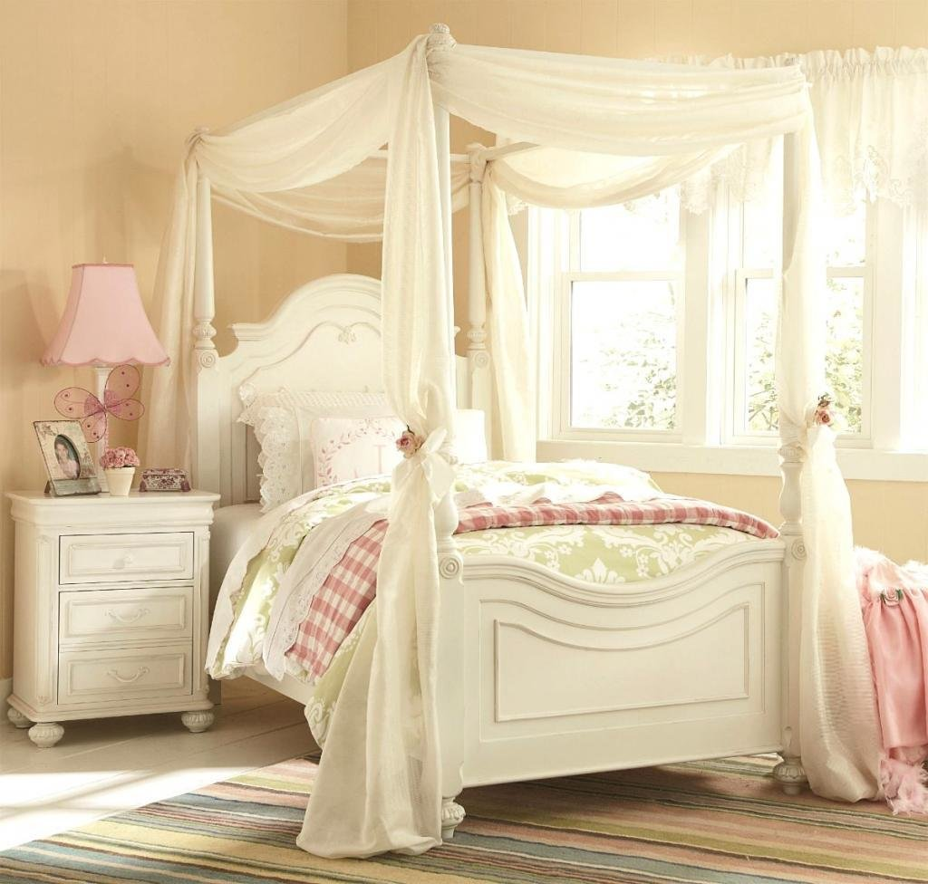 Best Enchanting Girls White Bedroom Furniture With Whtie Curtain Canopy Bedroom For Girl – Home Inspiring With Pictures