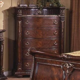 Best Davis Direct Conventry Traditional 5 Drawer Chest With With Pictures