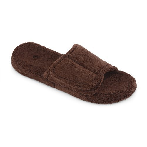 Best Acorn Mens Spa Slide Slipper Chocolate At Hayneedle With Pictures
