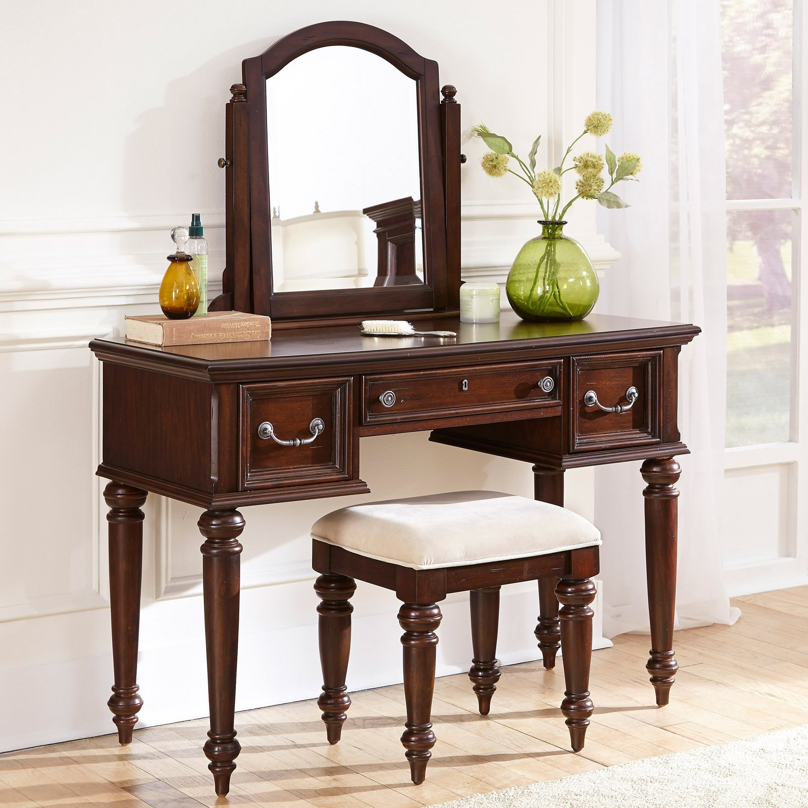 Best Home Styles Colonial Classic 3 Drawer Vanity And Mirror With Pictures