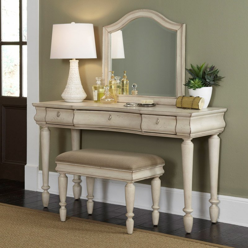 Best Rustic Traditions Bedroom Vanity Set Rustic White With Pictures