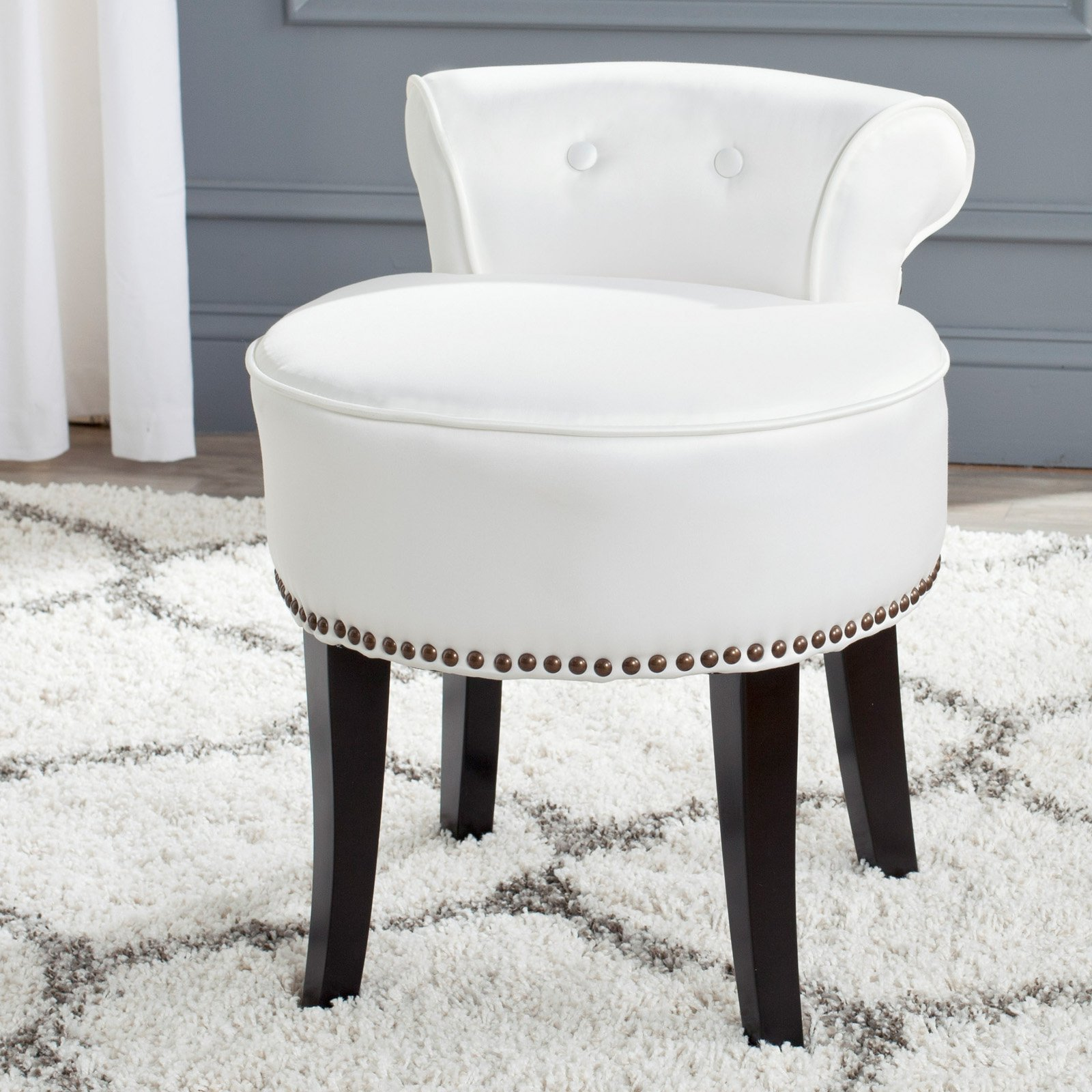 Best Safavieh Georgia Vanity Stool Bedroom Vanities At Hayneedle With Pictures