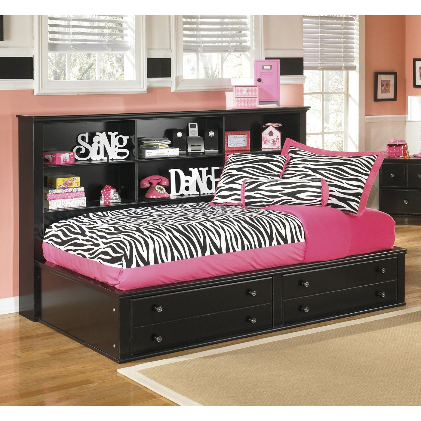 Best Signature Design By Ashley Jaidyn Bookcase Storage Bed With Pictures